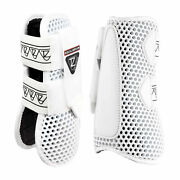 Equilibrium New Tri-zone Open Fronted Horse Boot Tendon - White All Sizes