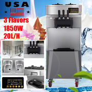 20l Commercial 3 Flavor Soft Serve Ice Cream Cones Maker Stainless Steel Machine