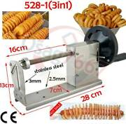 Commercial Manual Curly Fries Twister Hotdog Spiral Tornado Potato Cutter Slicer