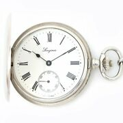 Longines Pocket Watch L7.012.4 Hand Winding White Dial Hunter Case Menandrsquos