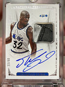 Shaquille O'neal Autograph Sneaker Swatch National Treasures 23/60 Magic 2013-14