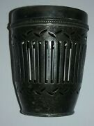 And Co Makers Sterling Silver Reticulated Jam Lotion Jar 133.5g No Glass
