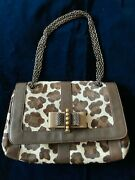Christian Louboutin Sweet Charity Pony Chain Shoulder Bag Leather Brown