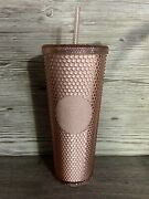 Starbucks Limited Korea Pale Rose Cherry Blossom Studded Cold Cup Tumbler