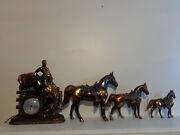 New Haven Horse Clock Rare Horse Clock With Single Horses Collectible Horse New