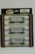 N Scale Atlas 5740 - Bn Fallen Flags Airslide Hoppers - Cbandq, Np And Frisco