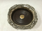 Vintage Corbell And Co. Silver Plate Wine Champagne Coaster Ornate Shell Design