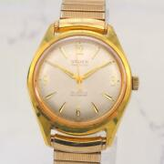 Gruen Precision 10k Gold Filled 34mm Automatic Watch Used Antique Vintage
