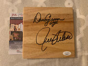 Rick Pitino And Denny Crum Signed 6 X 6 Wood Floor Tile Jsa Authenticated Coa