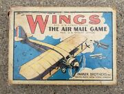 Vintage 1928 Wings The Air Mail Game Parker Bros Card Game Salem Mass Airplane