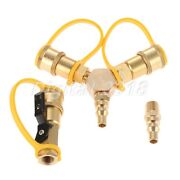 1/4 Rv Propane Y Splitter Quick Connect Adapter Shutoff Valve And Full Flow Plug