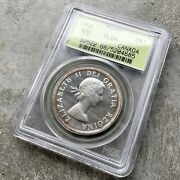 1954 Canada 1 Dollar Silver Coin One Dollar Proof Like Pcgs Pl 66