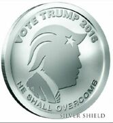 1 Oz Silver Round 2016 He Shall Overcomb Trump Coin Free Ship
