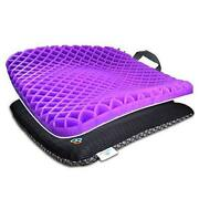 Gel Seat Cushion Pressure Absorbs Honeycomb Sitter Elastic Support Chair Pad