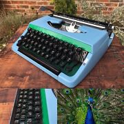 Pretty As A Peacock - Video Review - Custom Brother Charger Typewriter -serviced