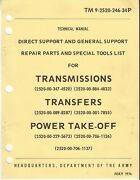 M35 M35a2 M49 M49a1 And A2 M44 Series Transmisson Parts Manual