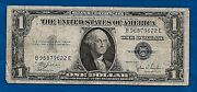 Us 1935 B Silver Certificate Blue Seal 1 Dollar Note Bill Paper Money Currency