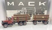 First Gear 1/34 Scale Mack R-model Logging Truck W/trailer And Log Load Andldquovery Rare