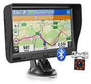 Gps Navigation For Car Truck With Bluetooth Lifetime Map Update 7 Inch