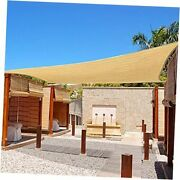 Sun Shade Sail Rectangle Uv Block Canopy For Patio Backyard Lawn 12and039x16and039 Sand