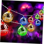 50 Led Disco Ball Mirror Led Party Light String Christmas 50-led Multicolor