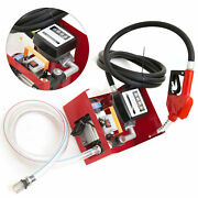 Electric Gas Transfer Pump 550w Oil Fuel Diesel Automatic W/ Hoses Andfuel Nozzle