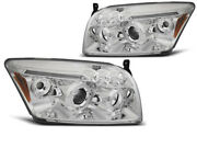 Headlights For Dodge Caliber 2006-2009 2010 2011 2012 Vr-1254 Angel Eyes Chrome