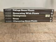 Vintage Lot Of 5 Time-life Encyclopedia Of Gardening Books Brown Hardcover