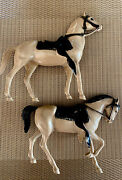 1960's Hartland Mini Horses Only Off Whitetanprancer And Walking Lot Of 2