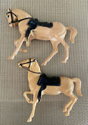 1960's Hartland Mini Horses Only Yellow Prancer Heads Down Heads Uplot Of 2