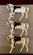 1960's Hartland Mini Horses Only Whiteheads Down Prancers  Lot Of 3