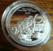 2021 Wooly Mammoth 1 Oz .9999 Silver Coin Round- Prehistoric Life Series Congo