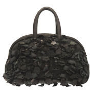 Authentic Chrome Hearts Gym Bag Cemetery Cross Fringe Black Leather 0030