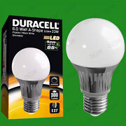 10x 6w Dimmable Duracell Led Frosted Gls Globe Instant On Light Bulb Es E27 Lamp