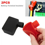 Pair Of Rubber Car Battery Terminal Insulator Wire Connector Cap Cover Protector