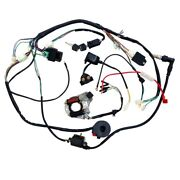 Complete Stator Wiring Harness Cdi Ignition Coil Solenoid Atv Bike 50 110 125cc