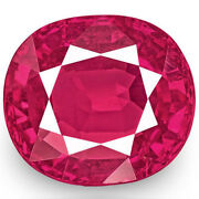 Igi Certified Burma Ruby 1.08 Cts Natural Untreated Lustrous Pinkish Red Cushion