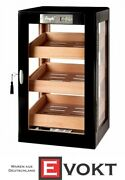 Angelo Humidor Tower Cabinet Approx. 100-150 Cigars Black Brand New