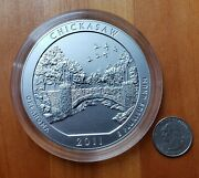 2011 P Chickasaw America The Beautiful 5 Oz Silver Coin Np10 Collectors Version
