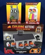 3 Exploding Kittens Collector C3 Construction Sets House Scene Dynamite Rainbow