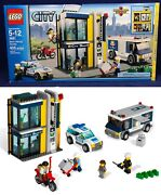 New Bank And Money Transfer Lego City 3661 Police Car Cops Robbers Armored Truck