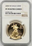 2004-w Gold Eagle 50 One-ounce Ngc Pf 70 Ultra Cameo 1 Oz Fine Gold
