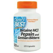 Doctorand039s Best Betaine Hcl Pepsin And Gentian Bitters Digestive System - 120 Caps