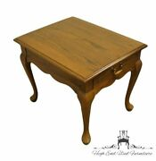 Mersman Furniture Solid Pecan Traditional Queen Anne Style 21x27 Accent End ...
