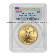 2006-w 50 American Gold Eagle Pcgs Ms70 First Strike Burnished 1oz Bullion Ms70