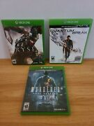 Xbox One Games Lot Ryse Son Of Rome, Quantum Break, Murdered Sould Suspect