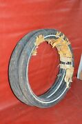 Nos Vtg Dunlop F178 4 Ply Motorcycle Moped Tires 2.50-17 Ribbed Whitewall Japan