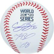 C Bellinger C Seager M Betts Dodgers Signed 2020 Ws Champs Ws Logo Baseball
