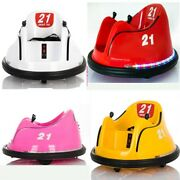 Kidzone 6v/30w Kids Electric Ride On Bumper Car Toy 360 Spin Astm-certified Us