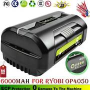 For Ryobi Op4050a Op40602 40v Lithium-ion Battery 6.0 Ah High Capacity Battery